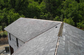 Composite Slate Roof Installation